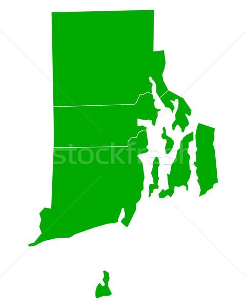 Mapa Rhode Island fundo verde ilha linha Foto stock © rbiedermann
