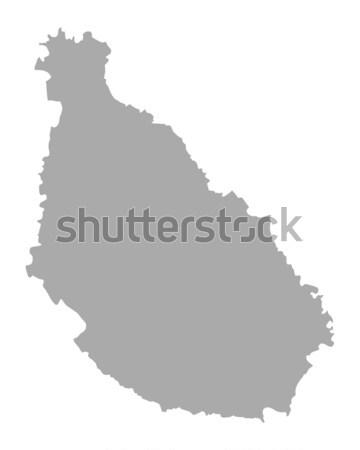 ストックフォト: 地図 · 背景 · 白 · 行 · ドイツ · 実例