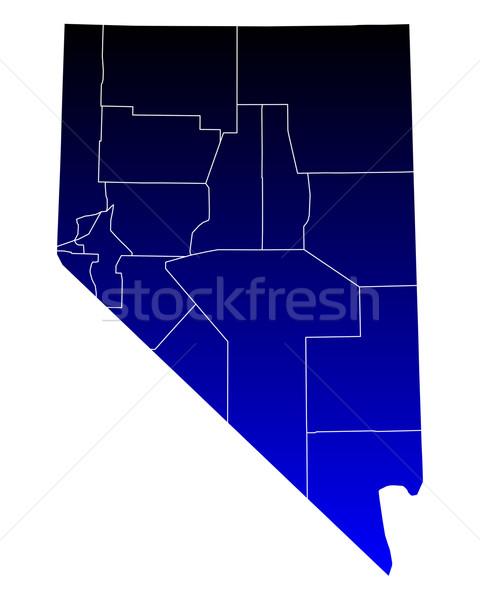 Harita Nevada mavi seyahat ABD yalıtılmış Stok fotoğraf © rbiedermann