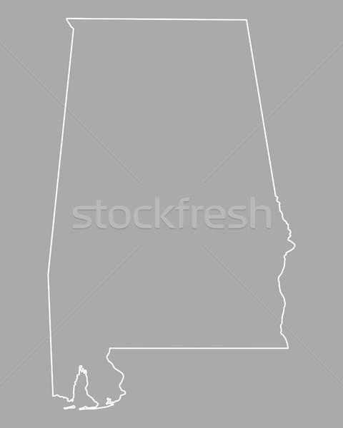 Harita Alabama arka plan hat ABD Stok fotoğraf © rbiedermann