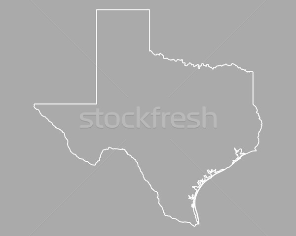 Térkép Texas fehér USA vektor izolált Stock fotó © rbiedermann
