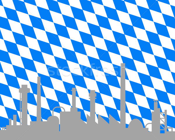 Industry and flag of Bavaria Stock photo © rbiedermann