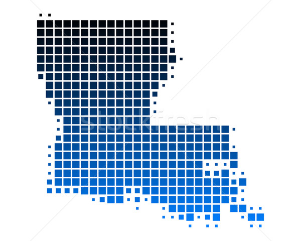 Mappa Louisiana blu pattern america piazza Foto d'archivio © rbiedermann