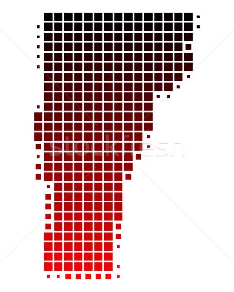 Térkép Vermont piros minta Amerika USA Stock fotó © rbiedermann
