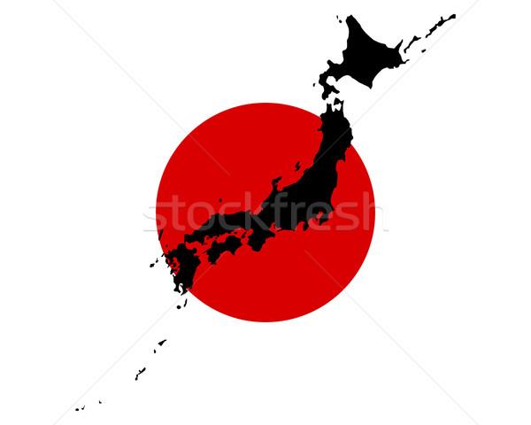 Mappa bandiera Giappone sfondo banner Foto d'archivio © rbiedermann
