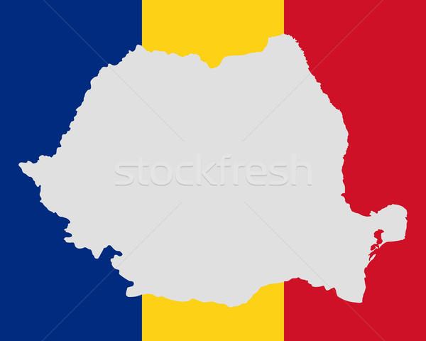 Mapa bandeira Romênia fundo viajar bandeira Foto stock © rbiedermann
