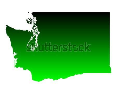 Carte Caroline du Nord vert Voyage Amérique USA Photo stock © rbiedermann