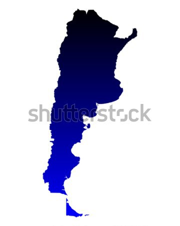 Mapa Argentina azul viajar vetor Foto stock © rbiedermann