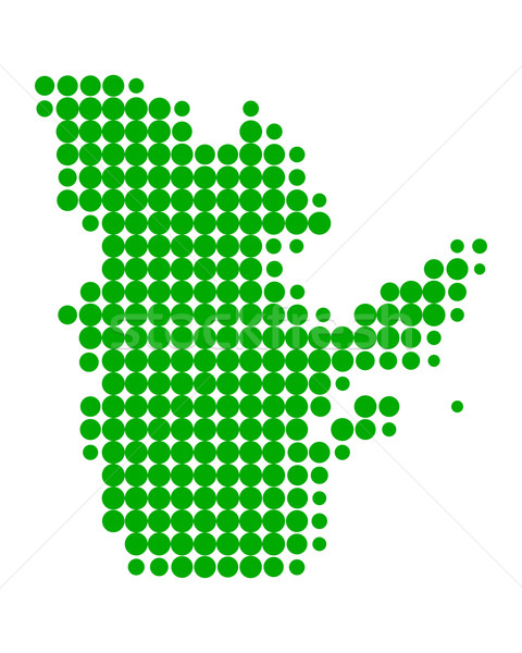 Harita Quebec yeşil model daire nokta Stok fotoğraf © rbiedermann
