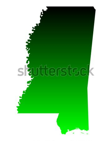 Harita Mississipi yeşil seyahat Amerika ABD Stok fotoğraf © rbiedermann