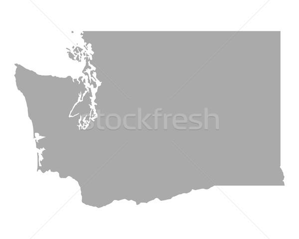 地図 ワシントン 背景 行 アメリカ 米国 ストックフォト © rbiedermann