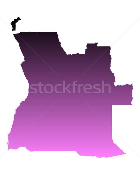 карта Ангола розовый вектора изолированный Сток-фото © rbiedermann