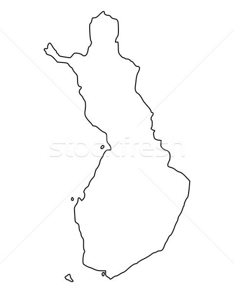 карта Финляндия фон изолированный иллюстрация Сток-фото © rbiedermann