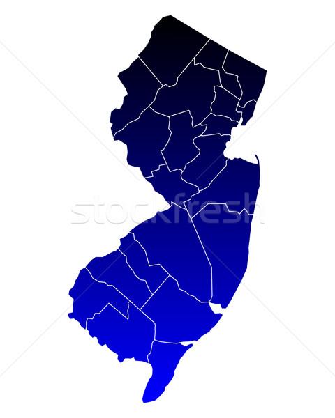Harita New Jersey mavi seyahat yeni ABD Stok fotoğraf © rbiedermann