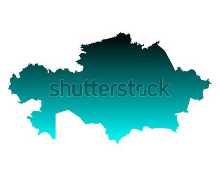 карта зеленый синий путешествия вектора изолированный Сток-фото © rbiedermann