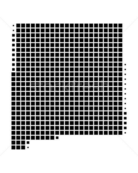 карта Нью-Мексико черный шаблон Америки квадратный Сток-фото © rbiedermann