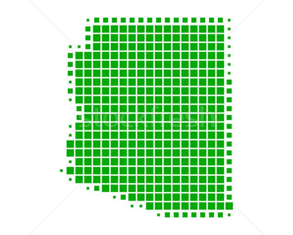 Térkép Arizona zöld minta Amerika tér Stock fotó © rbiedermann