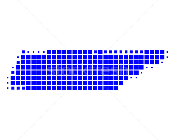 Carte Tennessee bleu modèle carré Photo stock © rbiedermann