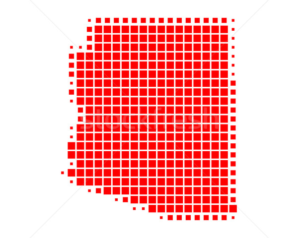 Karte Arizona rot Muster america Platz Stock foto © rbiedermann