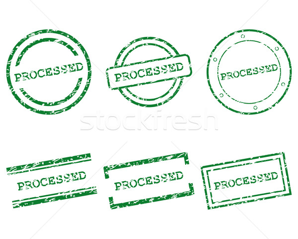 Processed stamps Stock photo © rbiedermann