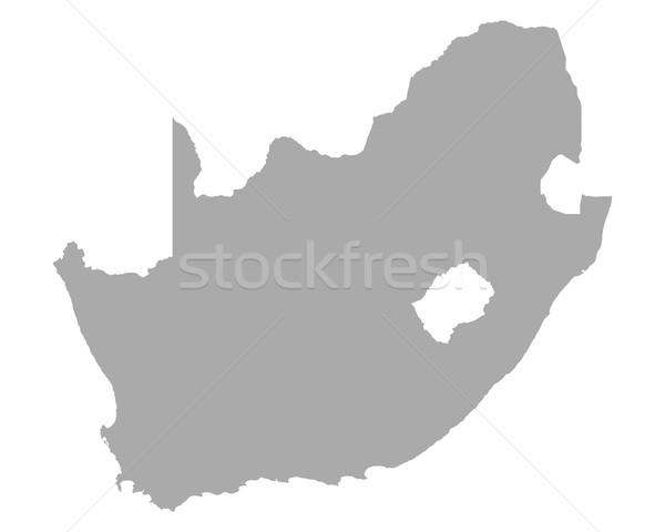 Karte Südafrika Vektor isoliert Illustration grau Stock foto © rbiedermann