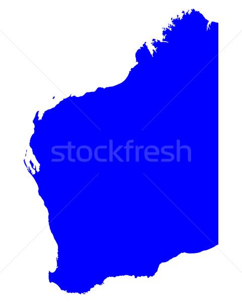 Mapa occidental Australia azul vector Foto stock © rbiedermann