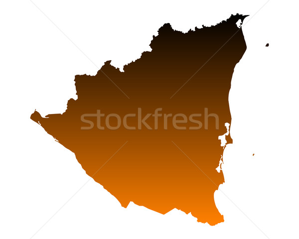 Térkép Nicaragua vektor izolált illusztráció Stock fotó © rbiedermann