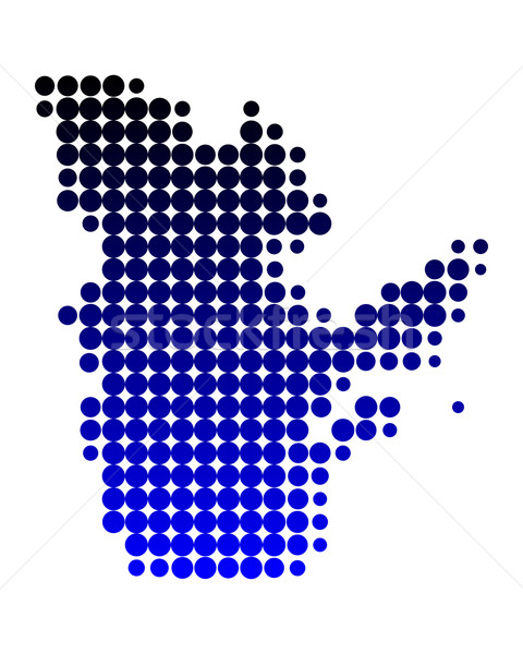 Harita Quebec mavi model daire nokta Stok fotoğraf © rbiedermann