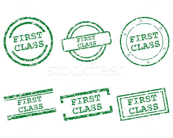 Első osztály bélyegek terv levél bélyeg osztály Stock fotó © rbiedermann
