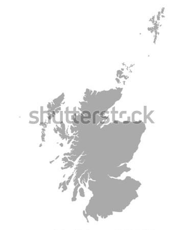 Mapa escócia vetor isolado ilustração cinza Foto stock © rbiedermann