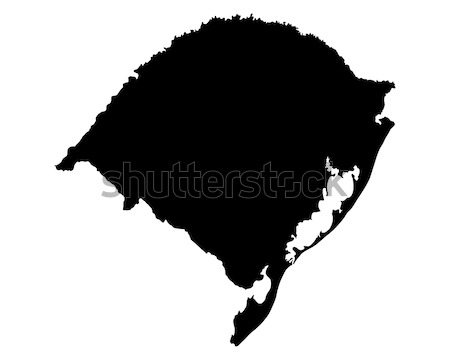 Сток-фото: карта · Рио · фон · черный · линия · вектора