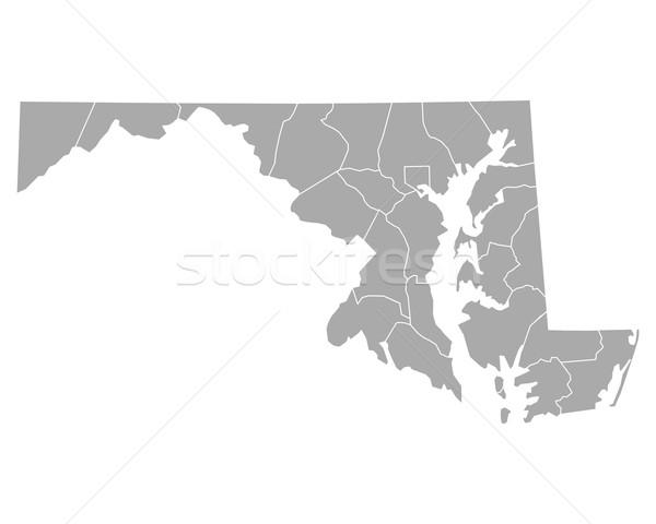 Mappa Maryland sfondo line vettore illustrazione Foto d'archivio © rbiedermann