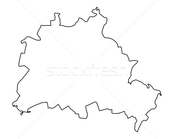 Mapa Berlim isolado ilustração Foto stock © rbiedermann