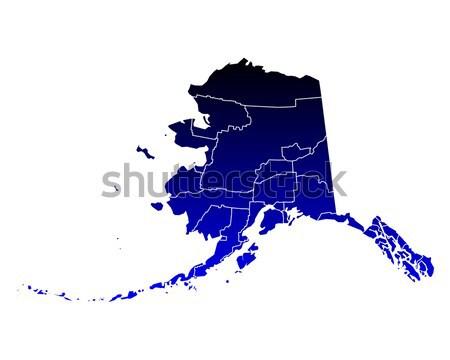 地図 アラスカ州 青 旅行 米国 孤立した ストックフォト © rbiedermann