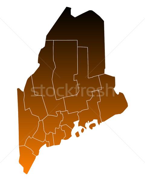 Térkép USA vektor izolált illusztráció barna Stock fotó © rbiedermann