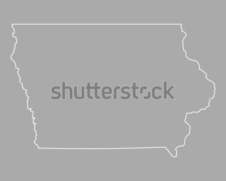 Harita Iowa arka plan hat ABD Stok fotoğraf © rbiedermann
