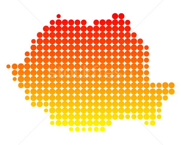 Stockfoto: Kaart · Roemenië · patroon · cirkel · punt