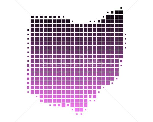 地図 オハイオ州 パターン ピンク アメリカ 広場 ストックフォト © rbiedermann