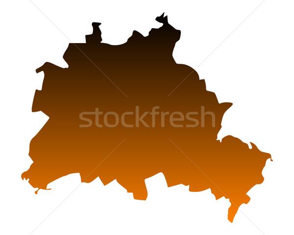 ストックフォト: 地図 · ベルリン · 市 · ベクトル · ドイツ · 孤立した