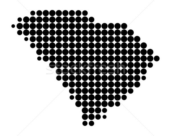 Mappa Carolina del Sud pattern america cerchio USA Foto d'archivio © rbiedermann