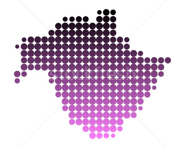 Térkép új minta rózsaszín kör pont Stock fotó © rbiedermann