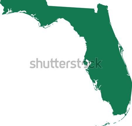 Térkép Florida zöld utazás Amerika USA Stock fotó © rbiedermann
