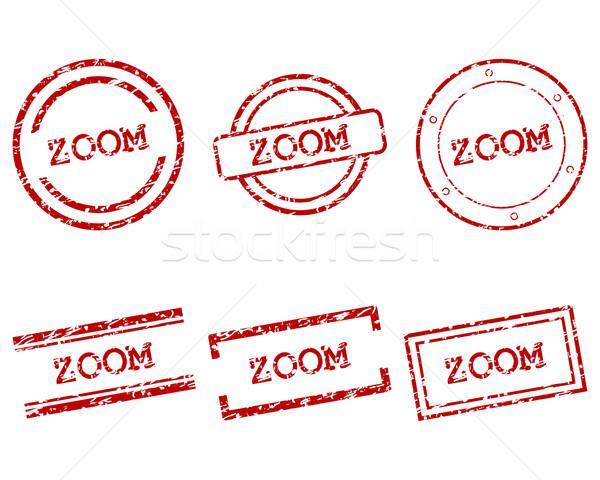 Zoom francobolli timbro grafica tag sigillo Foto d'archivio © rbiedermann