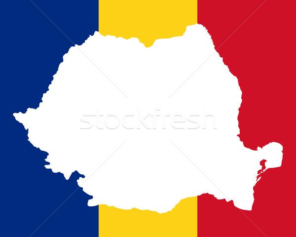 地図 フラグ ルーマニア 背景 旅行 白 ストックフォト © rbiedermann