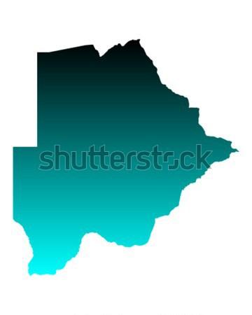 Map of Botswana Stock photo © rbiedermann