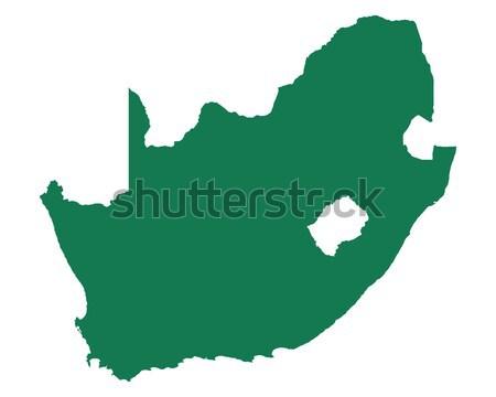 Carte Afrique du Sud vert vecteur isolé illustration Photo stock © rbiedermann