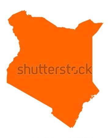 Carte Kenya vecteur isolé Photo stock © rbiedermann