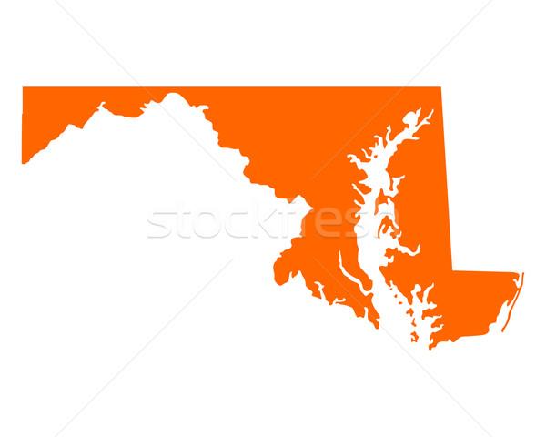 Mappa Maryland viaggio america USA isolato Foto d'archivio © rbiedermann