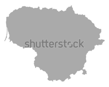 карта Литва вектора изолированный иллюстрация серый Сток-фото © rbiedermann