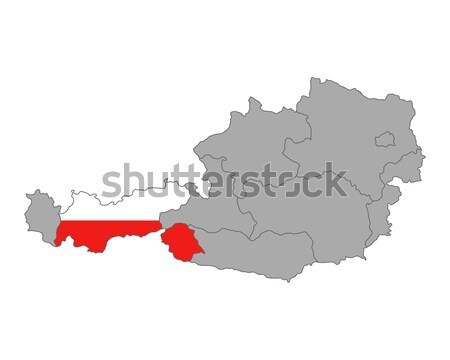 Map of Austria with flag of Tyrol Stock photo © rbiedermann